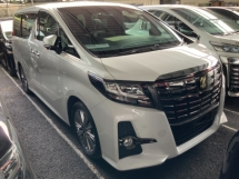 2017 TOYOTA ALPHARD 2.5 CVT S A PACKAGE TYPE BLACK Sunroof 4 camera