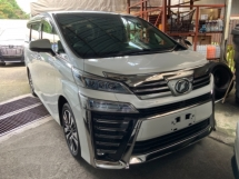 2018 TOYOTA VELLFIRE 2.5 ZG high spec facelift 3 LED surround camera power boot full leather pilot seat unregistered