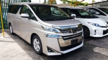 2018 TOYOTA VELLFIRE 2.5 X STEEL BLONDE METALLIC COLOUR EXTERIOR