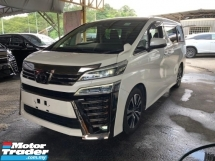 2018 TOYOTA VELLFIRE 2.5 Z G EDITION SUROOUND CAMERA DIM UNREG