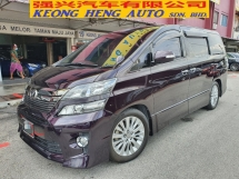 2013 TOYOTA VELLFIRE 2.4 Z FACELIFT *8 seated* 2 Years Warranty