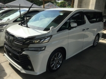 2017 TOYOTA VELLFIRE 2.5 Z A EDITION GOLDEN EYE P/CRASH 360 CAMERA UNRG