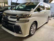 2016 TOYOTA VELLFIRE 2.5 Z High spec 4 camera power boot Free Gift 3 Years Warranty Many Unit Unregistered