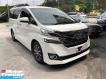 2017 TOYOTA VELLFIRE 2.5 V Spec 360 Camera , 8 Seathers , Unregistered