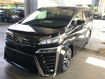 2018 TOYOTA VELLFIRE 2.5 ZG Sun Roof Leather Pilot Seat Power Boat 360c