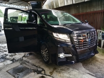 2016 TOYOTA ALPHARD 2.5 SC 4 CAMERA SEMI LEATHER PILOT SEAT 2016 JAPAN UNREG LIKE NEW CAR FREE 3 YRS GMR WARRANTY