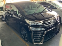 2019 TOYOTA VELLFIRE 2.5 ZG pilot seat High spec Grade A Free Gift 3 years Warranty Unregistered