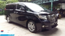 2016 TOYOTA ALPHARD 2.5 CVT S A PACKAGE TYPE BLACK PRE-CRASH 4 CAM