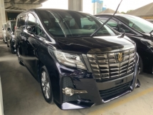 2016 TOYOTA ALPHARD 2.5 Type Black Package Alcantara Leather power boot 7 seaters 3 years warranty Unregistered