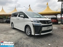 2018 TOYOTA VELLFIRE 2.5 Z ( NEW FACELIFTED ) CHEAP CHEAP !!!
