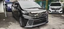 2018 TOYOTA VELLFIRE 2.5 ZG BASIC SPEC WITH ALPINE SET & PCS