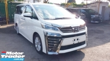 2018 TOYOTA VELLFIRE 2.5 Z  BASIC SPEC WITH DIM