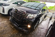 2017 TOYOTA ALPHARD 2.5 TYPE BLACK MODELLISTA ALPINE SUNROOF POWER BOOTH 2017 JAPAN UNREG FREE GMR WARRANTY
