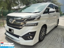 2017 TOYOTA VELLFIRE 2.5 Z G EDITION IMPOT BARU WARRANTY WITH TOYOTA