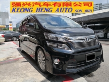 2012 TOYOTA VELLFIRE 2.4 New Facelift YEAR MADE 2012 ZG Pilot Seat Ori Home Theater FREE 2 YEARS WARRANTY 2015