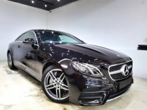 2018 MERCEDES-BENZ E-CLASS E300 COUPE AMG LINE 9 SPEED UNREG