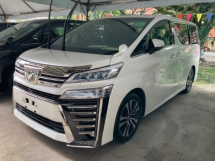 2018 TOYOTA VELLFIRE 2.5 ZG Facelift 3 LED Pilot seat Surround camera power boot 5 years warranty Unregistered