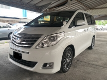2012 TOYOTA ALPHARD 2.4 NEW FACELIFT YEAR MADE 2012 7 Seater Leather 2 Power Doors ((( FREE 2 YEARS WARRANTY ))) 2015
