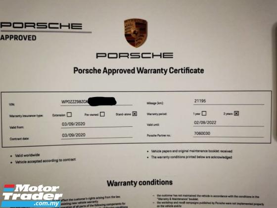 2016 PORSCHE CAYMAN 3.8 GT4 (M) Clubsport Pkg FULL