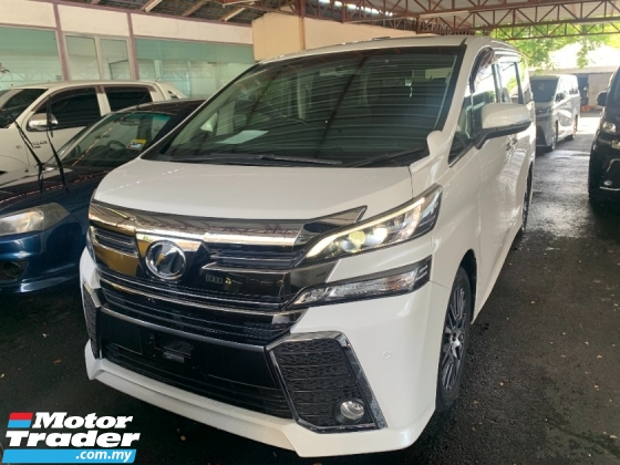 2016 TOYOTA VELLFIRE 2.5 ZG (BIG PROMOTION PRICE ) SUNROOF BIG ALPINE PLAYER AND MONITOR PILOT SEATS 3POWER DOOR UNREG
