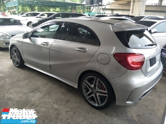 2015 MERCEDES-BENZ A45 2.0 SCROLL TURBO 360 HP MEMORY BUCKET LEATHER SEATS PUSH START BUTTON PARKTRONIC SENSOR AMG EXHAUST