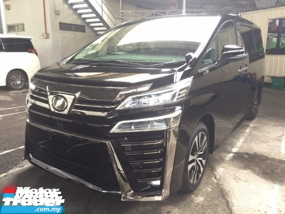2018 TOYOTA VELLFIRE 2.5 ZG FACELIFT UNREG.3 EYES LED.MEMORY SEAT.LEATHER.3 POWER DRS N BOOT.360 SURROUND CAM N ETC