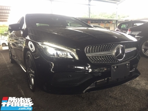 2017 MERCEDES-BENZ CLA 180 AMG FACELIFT UNREG.HI SPEC.JPN.PADDLE SHIFT.LED LIGHT.PRE CRASH.REVERSE CAM.POWER BOOT.MEMORY SEAT.ORI AMG BODYKIT N SPORT RIM.LANE ASSIST.KEYLESS ENTRY N ETC.FREE WARRANTY N MANY GIFTS