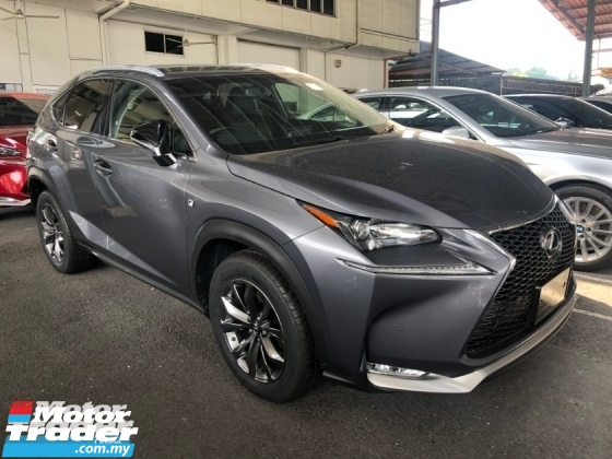 2015 LEXUS NX NX200t F Sport Package 2.0 Turbo 235hp F Sport Body Kit Sport Rims Memory Bucket Seat Power Boot