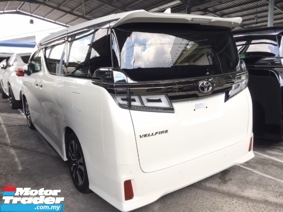 2018 TOYOTA VELLFIRE 2.5 ZG FACELIFT HIGHSPEC.UNREG.HALF SST.PILOT SEAT.ORIGINAL LEATHER SEAT N 360 SURROUND CAM.LED LIGH