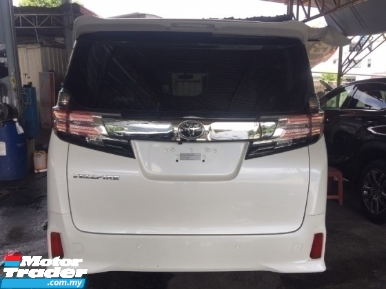 2016 TOYOTA VELLFIRE 2.5 ZA Z UNREGIST.HIGHSPEC.HALF SST.TRUE YEAR CAN PROVE.7 SEATS.3 POWER DRS N BOOT.360 CAMERA N ETC.