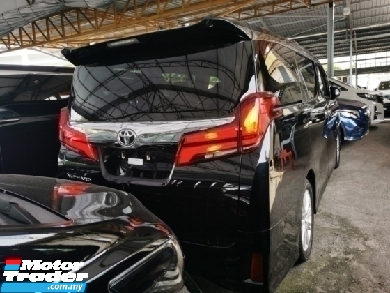 2018 TOYOTA ALPHARD 2.5 SA S UNREG.LESS 50 SST.7 SEATS.3 POWER DRS N BOOT.360 SURROUND CAM.PRE CRASH.LED LIGHT N ETC