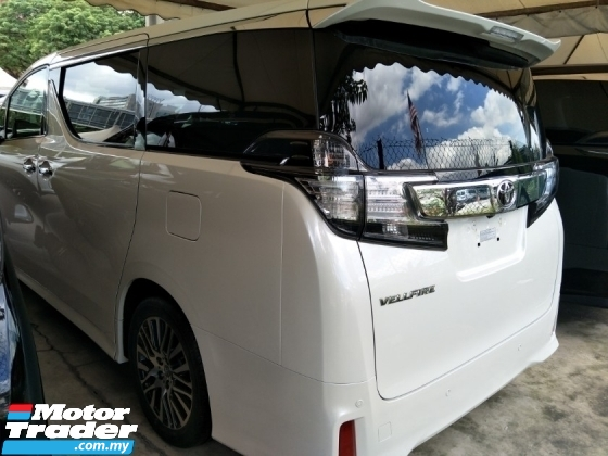 2017 TOYOTA VELLFIRE 2.5 ZG SPEC WHITE EDITION SUNROOF MOONROOF 360 SURROUND CAMERA 2 POWER DOOR POWER BOOT