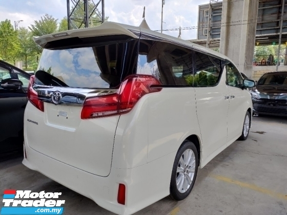 2018 TOYOTA ALPHARD 2.5 S PRE CRASH STOP SYSTEM 7 SEATER POWER BOOT 360 CAMERA 2 LED HEADLAMPS 2 YEAR WARRANTY