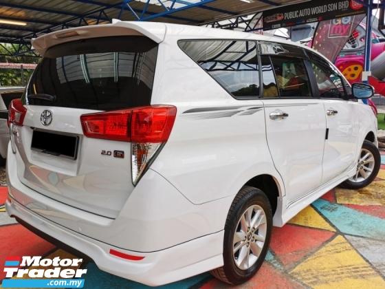 2018 TOYOTA INNOVA Toyota INNOVA 2.0 G F/SPEC F/SERVICE UnderWARRANTY