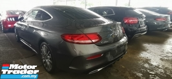 2018 MERCEDES-BENZ C-CLASS C200 COUPE AMG UNREG.TRUE YEAR CAN PROVE.HALF SST.PANAROMIC ROOF.MEMORY SEAT.POWER BOOT.RE CAM N ETC