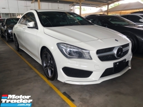 2016 MERCEDES-BENZ CLA Unreg Mercedes Benz CLA180 1.6 Turbo AMG Sport Paddle Shift Push Start Keyless Camera SST Deduction