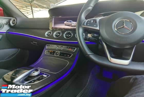2018 MERCEDES-BENZ E-CLASS E300 AMG LINE COUPE PANORAMIC ROOF MEMORY LEATHER SEAT 2018 UNREG LIKE NEW