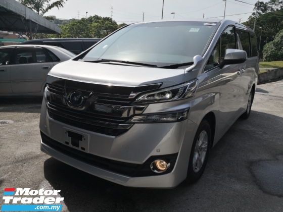 2017 TOYOTA VELLFIRE 2.5 X 8 seats INC SST 2 YEARS WARRANTY Pre Crash Auto Cruise Control Unreg