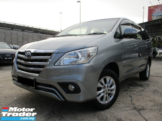 2015 TOYOTA INNOVA 2.0 G FACELIFT (A) Full Services Record