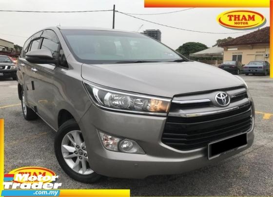 2018 TOYOTA INNOVA 2018 Toyota INNOVA 2.0G (A) F/SERVICE U/WARRANTY