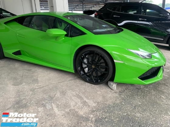 2015 LAMBORGHINI HURACAN LP610-4 5.2 UNREG Car Lifting Reverse Camera Green