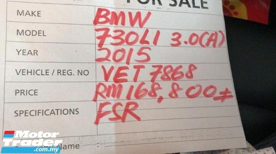 2015 BMW 7 SERIES 730Li 3.0 F02 Facelift Luxury LikeNEW FSR ByAB