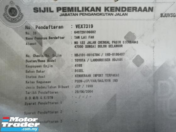 1999 TOYOTA LAND CRUISER 4.2 VX LIMITED