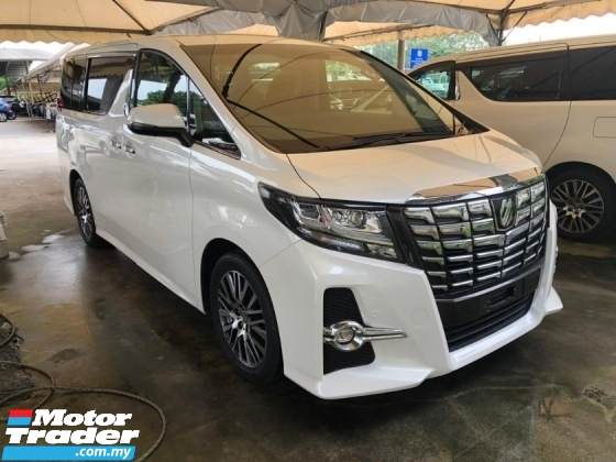 2017 TOYOTA ALPHARD 2.5 SC JBL SURROUND SYSTEM 360 SURROUND CAMERA PRE CRASH STOP SYSTEM AUTO CRUISE FREE WARRANTY