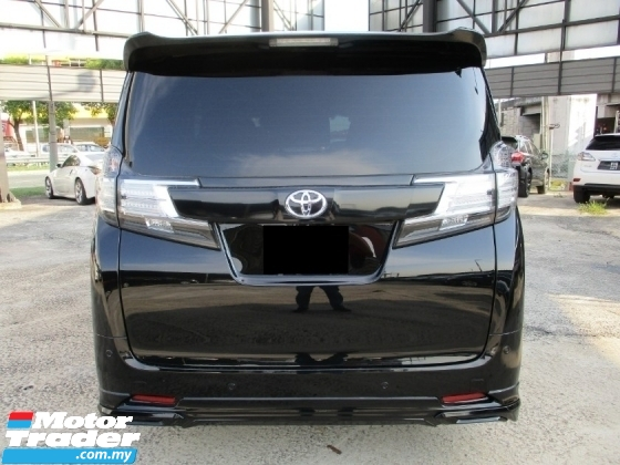 2018 TOYOTA VELLFIRE 2.5 ZA (A) Gred 5 Condition Car X Z ZG
