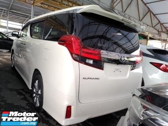 2017 TOYOTA ALPHARD 2.5 TAPE G POWER BOOT 2 POWER DOOR 360 SURROUND CAMERA AUTO CRUISE ALCARTARA SEMI LEATHER SEATS