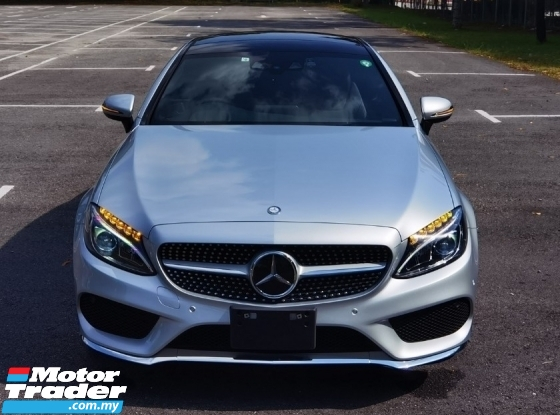 2016 MERCEDES-BENZ C-CLASS 2016 MERCEDES C180 1.6 AMG COUPE SPEC ORIGINAL FROM JAPAN UNREG 3 DOOR CAR SELLING PRICE RM 228000