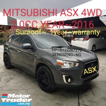 2016 MITSUBISHI ASX MITSUBISHI ASX 4WD 2.0 sunroof 2016 1owner malaysia k.l