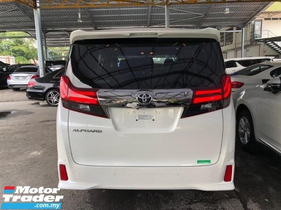 2017 TOYOTA ALPHARD Unreg Toyota Alphard 2.5 Type Black Gold Pre Crash Power Boot LED 360 View Camera 2PD 7Speed