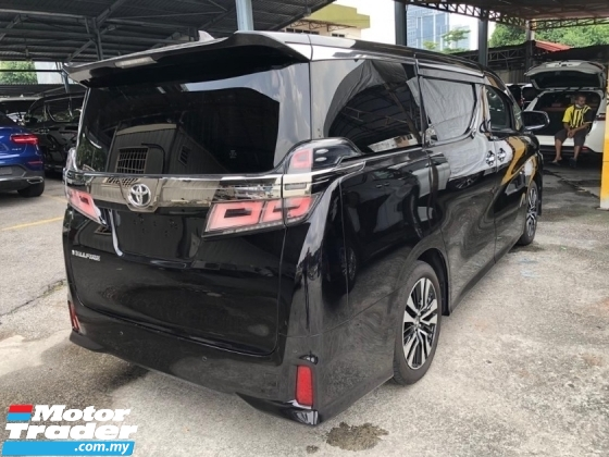 2018 TOYOTA VELLFIRE Unreg Toyota Vellfire ZG 2.5 Pilot 7seats 360view Power Boot 3LED Pre Crash System Push Start 7G